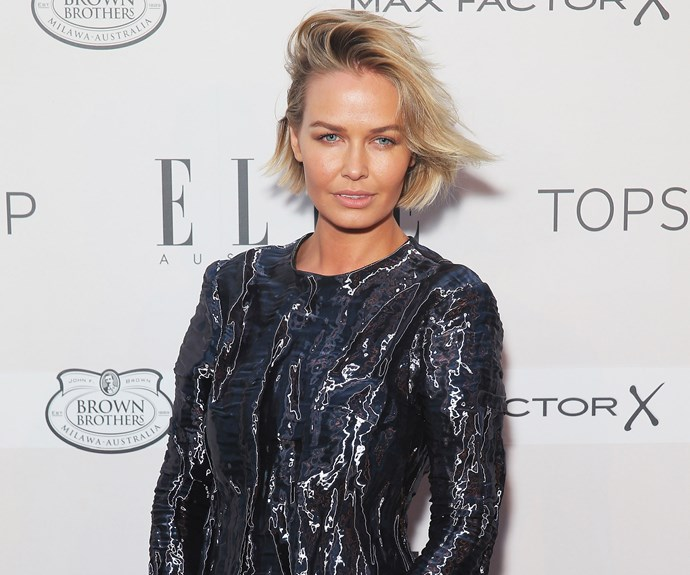 Lara Bingle shows off her maternal side