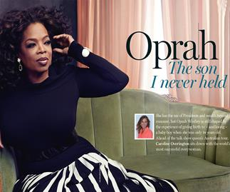 Oprah Winfrey tells of the son she never held