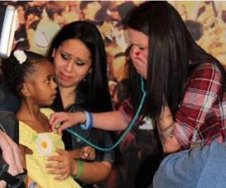 woman hears son's heartbeat in another child