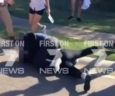 Sydney school girls wielding meat cleavers, knives and baseball bats in shocking street fight