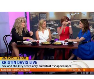 Samantha Armytage axed from hosting charity event after Kristin Davis sketch