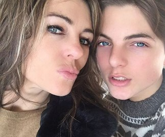 Liz Hurley's son Damian looks just like her