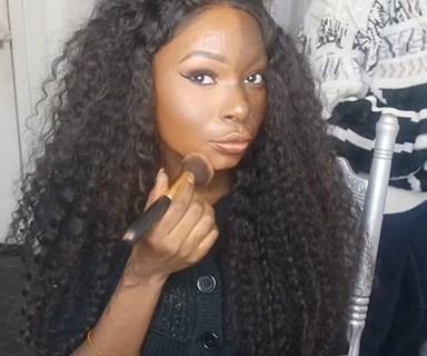 Burn survivor's empowering makeup tutorial