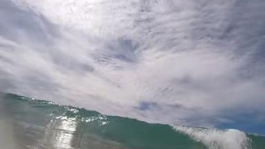 Terrifying video: Shark swims between NZ dad and daughter at beach