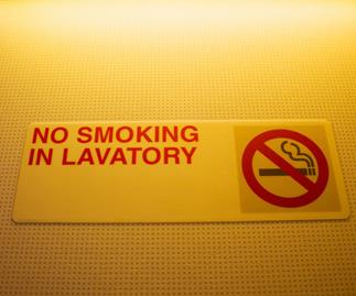This is why plane toilets have ashtrays – even though smoking is banned