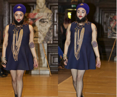 Bearded model shames bullies by starring in runway show