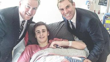 Shane Warne gives $340,000 to paralysed 14-year-old boy
