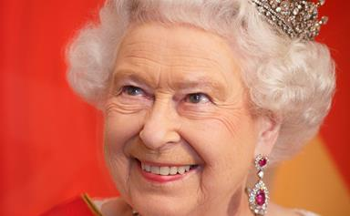 """The Queen has a cushion that reads """"It's good to be Queen"""""""