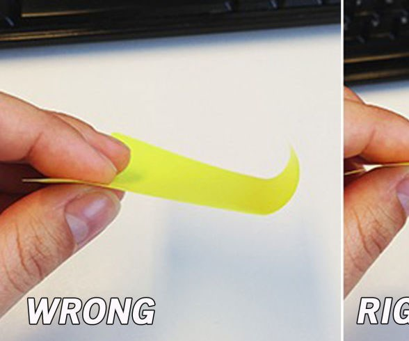 You've been peeling post-its wrong