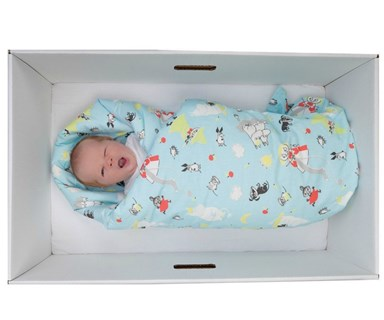 Trend: Why babies all over the world are sleeping in cardboard boxes