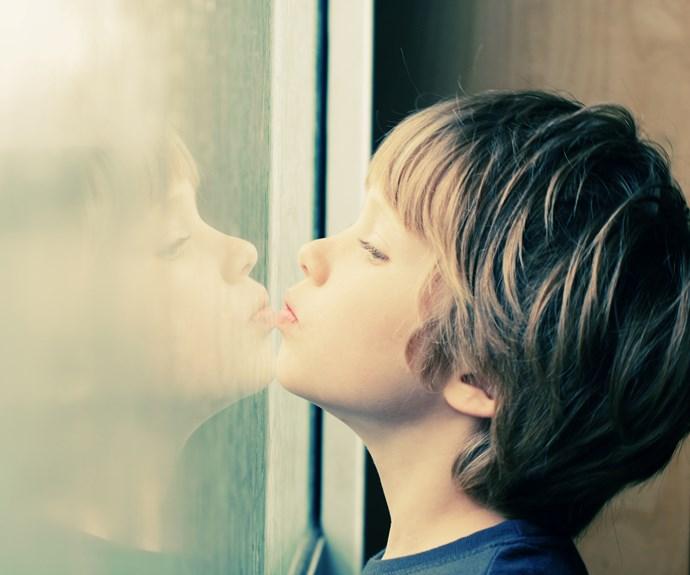 boy at window