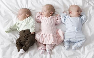 Grandmother, 55, gives birth to triplets