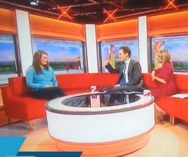 Ghostly figure captured on live TV