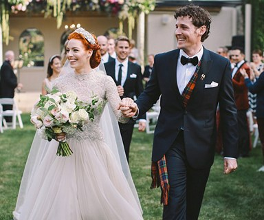 Yellow Wiggle and Purple Wiggle get married