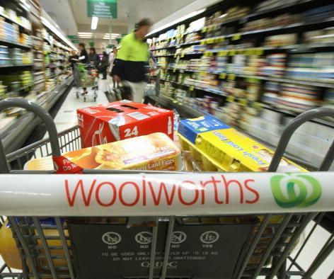 woolworths supermarket trolley