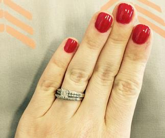 Young woman's defence of her small wedding ring goes viral