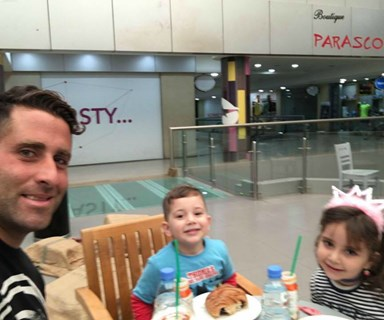 Ali Elamine posts happy selfie with his children in Beirut