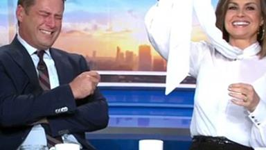 Karl Stefanovic loses it during risqué on-air exchange
