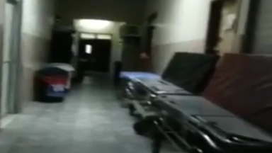 Ghost captured on camera in haunted hospital