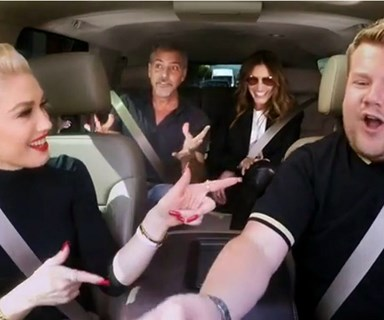 George Clooney and Julia Roberts crash Gwen Stefani's carpool karaoke