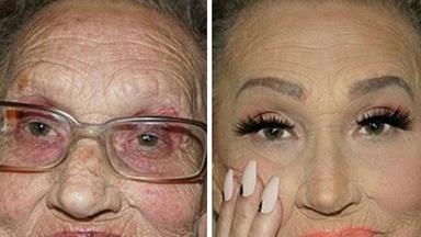 Grandmother's incredible glamorous makeover