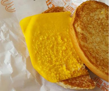 When McDonald's cheeseburger order goes wrong