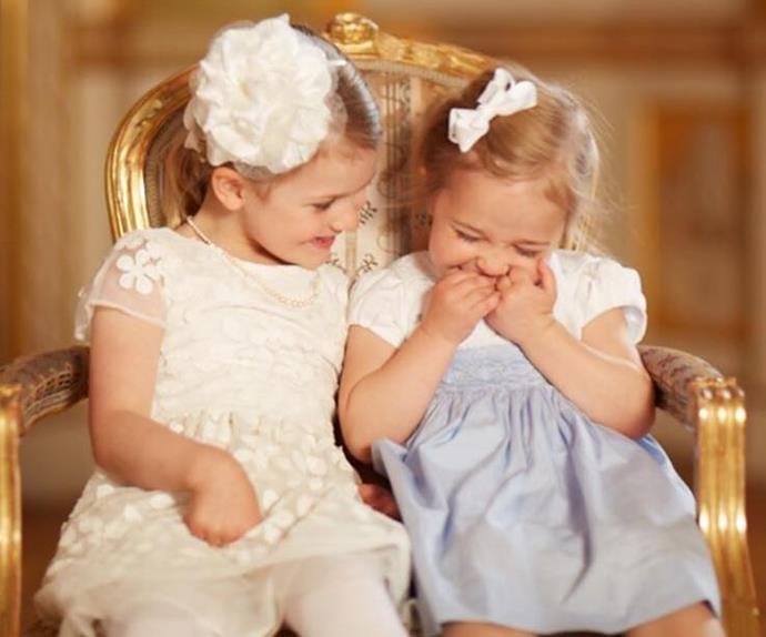 Swedish princesses giggling go viral