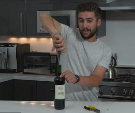 How to open wine without a corkscrew