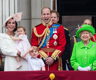 Princess Charlotte makes her first balcony appearance!