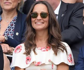 Pippa Middleton looks glamorous in designer dress