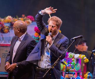Prince Harry's rock star moment