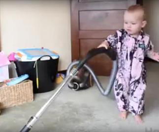 How to get your baby to clean your house