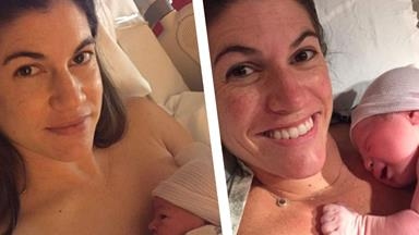 Identical twin sisters give birth on the same day