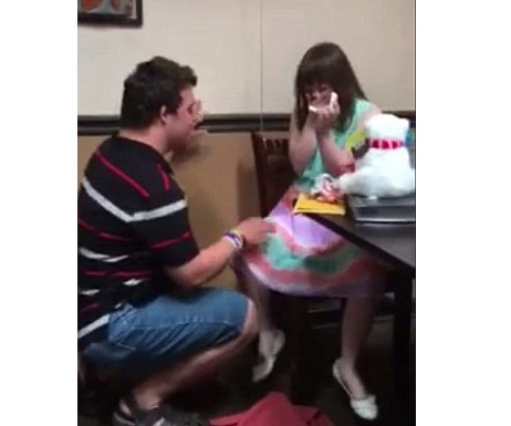 Girl with Down syndrome has the most beautiful proposal reaction