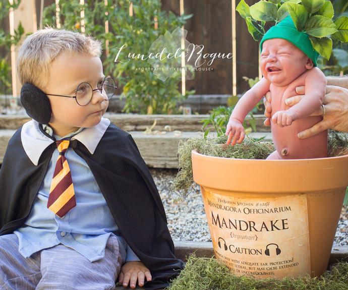 Adorable Harry Potter-themed newborn shoot