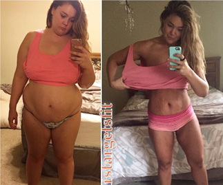Mum shows off incredible 57kg weight loss