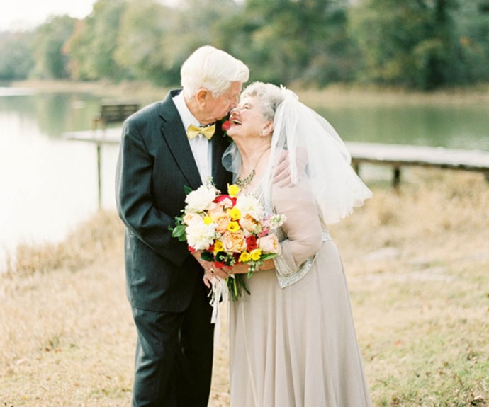 Grandparents celebrate 63 years of marriage with gorgeous photoshoot