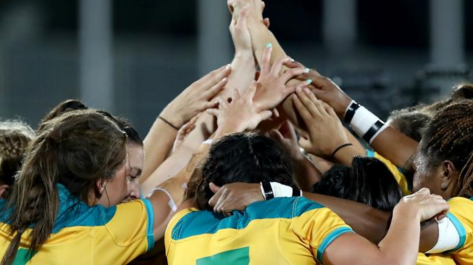 Australia has won gold in the women's Olympic rugby 7s