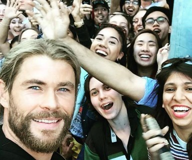 Chris Hemsworth is making everyone's day in Brisbane