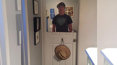 Parents find an ingenious way to punish this door-slamming teenager