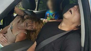 Police release graphic images of parents overdosing in front of their four-year-old child