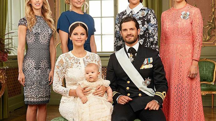 These are the adorable royal portraits of Prince Alexander of Sweden's christening