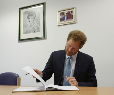 Prince Harry's low key visit to HIV hospital where Princess Diana once kissed AIDS patient