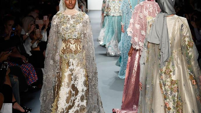 Hijabs on catwalk making New York Fashion Week history