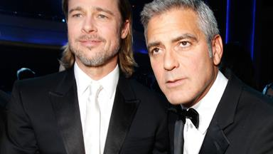 George Clooney reacts to Jolie-Pitt divorce news on live TV