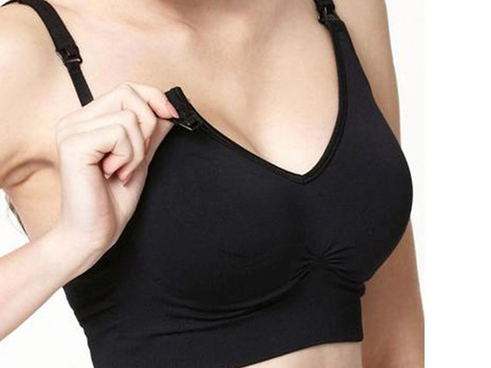 black maternity bra seamless