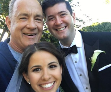 Tom Hanks crashes wedding and it's amazing