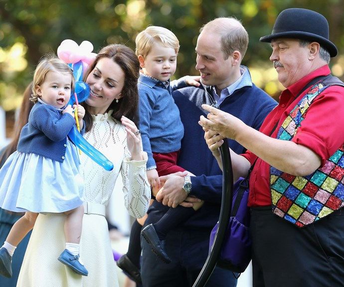 prince george princess charlotte kids party canada photos