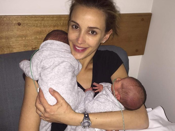 Photos of Bec Judd's new twin boys