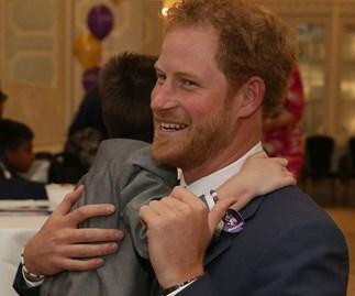 Prince Harry's sweet hug with seriously ill boy